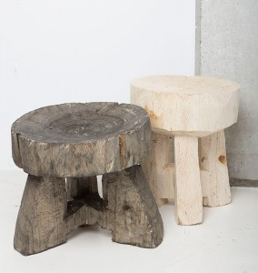 DUKA stool dark and light